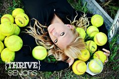 One of my favorite senior softball photos ever. U could even do it with volleyballs or basketballs.