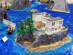 Circe's island. VirtuaLUG's Odyssey display. Brickworld 2014 by Leda Kat, via Flickr