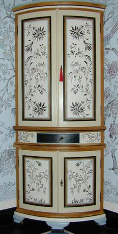 Paint and stencil cabinet...