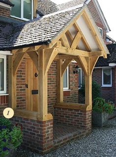 Porch roof bracket support porch kit flat roof porch for Front porch roof kits