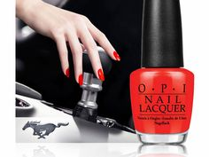 There's really nothing better than Mustang inspired Nail Polish.