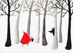 Little Red Riding Hood: Illustration by Emma Block (page 2) #illustration #LittleRedRidingHood #wolf