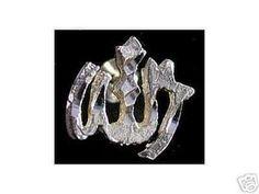 0954 Silver Allah Islam Muslim Islamic earrings Jewelry Sterling Silver 925 Jewelry