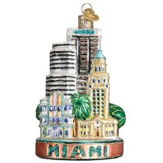 Find a Miami City Ornament or shop our entire collection of Old World Christmas ornaments for more selection . Our beautifully crafted ornaments make a great keepsake . Shop our large collection of high quality Christmas ornaments for all occasions . Old World Christmas Ornaments, Christmas Gift Box, Christmas Tree Toppers, Ornament Hooks, Glass Ornaments, The Freedom Tower, Christmas Destinations, Miami City, Personalized Ornaments