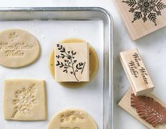 stamping unbaked cookies, what a great idea!! So pretty.