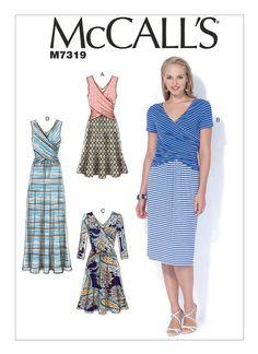 M7319: Designed for medium-weight moderate stretch knits. FABRICS: Jerseys, Cotton Knit.