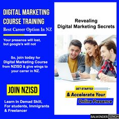 Get 100% Hands On Certification Training. Digital Marketing Course Online From Industry Experts. Become Certified Digital Marketer and Get Highly Paid JOB in NZ. NZISD provides Digital Marketing Training by NZ certified Digital Marketing trainers that will help you acquire advanced skills and kick-start your career in NZ. NZISD offers various digital marketing Short term courses and training programs for students in NZ.  #digitalmarketingcourse #digitalmarketingtraining #digitalmarketing Marketing Training, Online Marketing, Digital Marketing, Training Courses, Training Programs, Short Courses, Career Options, Online Courses, Get Started