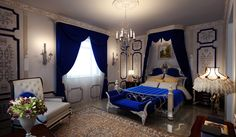 Royal blue bedrm by ~o0oKiVVio0o on deviantART