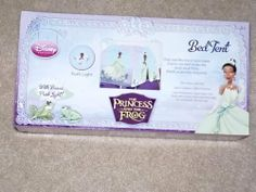 Disney Princess The Princess and the Frog Indoor Bed Tent With Push Light by Disney. $28.77. Disney Princess The Princess and the Frog Indoor Bed Tent With Push Light. Fits most twin beds.