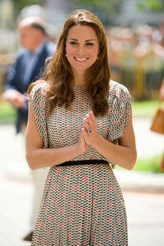 Catherine, Duchess of Cambridge visits the Queenstown Precinct to watch a cultural display in Singapore.