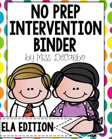 I.am.so.excited!   Today I am going to show you a peek inside my 2nd Edition No Prep Reading Intervention Binder! Teacher-friends, I have ...