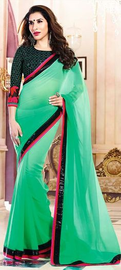 SophieChoudry. Embroidered Saree