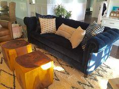 Blue sofa makeover. Check out other sofa makeovers at The Sofa Company. www.thesofaco.com