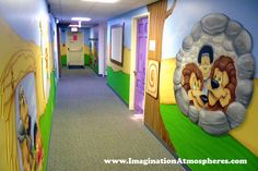 Bible Story murals for children's church and preschool by ImaginationAtmospheres.com