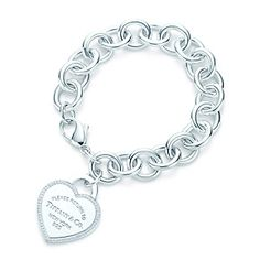 Tiffany & Co. | Item | Return to Tiffany™ heart tag bracelet in sterling silver with diamonds, medium. | United States
