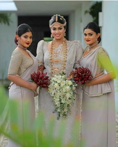 91a210cb950 Love the dark lip for the bridesmaids Dressed by Dhananjaya Bandara