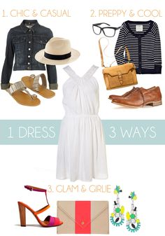 1 dress 3 ways {from the glitter guide}