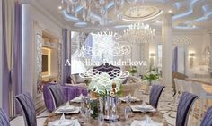 Living Room Designs, Chandelier, Ceiling Lights, Table Decorations, Lighting, Purple, Furniture, Home Decor, New Houses