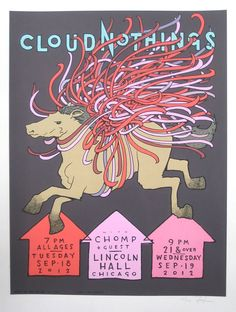 Image result for cloud nothings horse poster Omg Posters, Horse Posters, Andrew Bird, Concert Posters, Music Posters, Chicago Shows, Jay Ryan, Cult Movies, New Poster