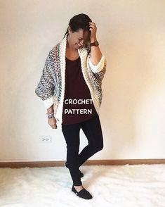 Háčkovanie sveter vzor Cocoon otriasť Pattern podľa CrochetByMichele