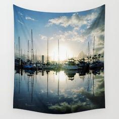 marina, mirror, mirrored, reflections... #tapestry #tapestries #marina #sunrise #sunset #longbeach #longbeachca #longbeachcalifornia #homedecor #wallart #nautical #sailing #boats #nature #photography #richcaspian