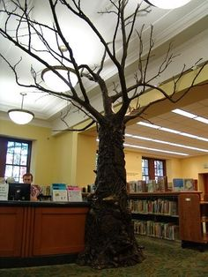 """Tree of Knowledge""  Beverly Cleary Children's Library  Multnomah County Central Library"