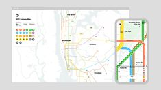 Grid | Work & Co Nyc Subway Map, New York Subway, Massimo Vignelli, Metropolitan Transportation Authority, Live Map, Data Visualization Tools, Bronx Nyc, Web Application Development, Train Service