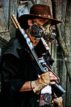 post apoc meets steampunked cowboy // by ~GrimHigurashi on deviantART