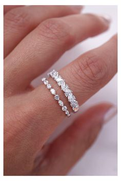 Diamond Wedding Rings, Diamond Bands, Wedding Ring Bands, Wedding Jewelry, Diamond Stacking Band, Round Wedding Rings, Best Wedding Rings, Skinny Wedding Band, Wedding Ring Necklaces