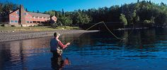 Fly Fishing lessons- complimentary for guests. Fly Fishing Lessons, Lutsen Resort, Lake Superior, Activities