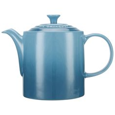 Le Creuset Stoneware Grand Teapot, 1.3L - Teal (165 BRL) ❤ liked on Polyvore featuring home, kitchen & dining, teapots, tea pot, le creuset teapot, stoneware teapot, le creuset and le creuset stoneware