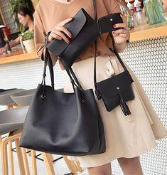 Cheap bag set, Buy Quality messenger bag directly from China bag f Suppliers: 4pcs/1Set Lichee Pattern Brief Big Capacity Female Wallet Handbag Fashion Shoulder Messenger Bag Set #1545 Women Crossbody Bag