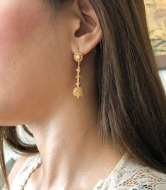 Silver Earrings Clip On Silver Jewelry Box, Filigree Jewelry, Filigree Earrings, Gold Filigree, Bridal Jewelry, Antique Jewelry, Beaded Jewelry, Dangle Earrings, Silver Earrings