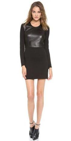 Half leather dress