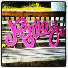 NAME SIGN Hand drawn cut & painted by TheWaywardWhimsy on Etsy, $60.00