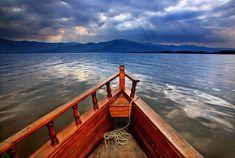 'Boat ride in Lake Kerkini' by Hercules Milas Macedonia, Hercules, Ciel, Golden Gate Bridge, Travel Bags, Greece, Scenery, Boat, Paisajes