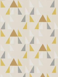 Modul in mustard, pewter and cinnamon is taken from Scion's Lohko wallpaper collection.