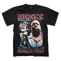 Brooklyn's finest, Biggie Smalls vintage style graphic T-shirt. Relaxed fit Size with the Notorious B. Remixed rap tees and hip hop inspired streetwear. Graphic Tee Style, Graphic Tee Outfits, Graphic Tees, Vintage Rap T Shirts, Vintage Tees, 90s Shirts, Cool Shirts, Hip Hop, Biggie Smalls