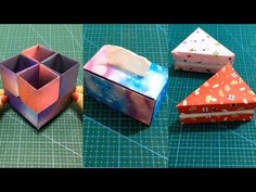 20 DIY Easy and Cute Paper Boxes for Storage Solutions – JunePet Diy Paper, Paper Crafts, Kids House, Storage Boxes, Storage Solutions, Paper Boxes, Origami, Diy And Crafts, Easy Diy
