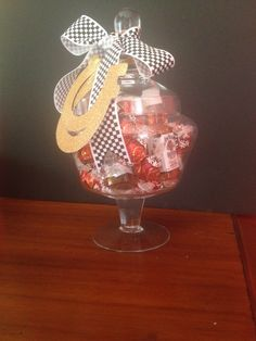 What a terrific Derby party hostess gift - filled with little bottles of Bourbon and Lindor truffles.