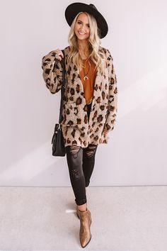 Apr 2020 - This neutral hued cardigan is \ Cute Fall Outfits, Winter Fashion Outfits, Fall Winter Outfits, Boho Outfits, Autumn Winter Fashion, Casual Outfits, Leopard Print Cardigan, Mode Boho, Cardigan Outfits
