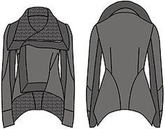 """Примеры моделей курток разработанных на основах рассчитанных в программе """"Закройщик"""""""