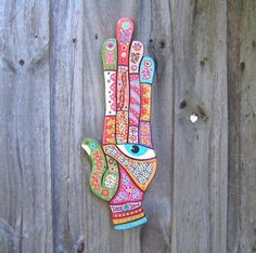 Art Hand, Original Wood Sculpture, Wood Carving, Wall Art Wall Decor, by Fig Jam Studio