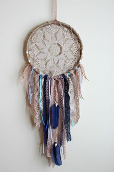 Dreamcatcher Beach Dreamcatcher Large Boho Dream by WhitetailRoad