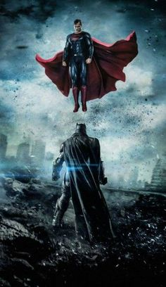 Batman v Superman Dawn of Justice. Superman was superior to Batman. Superman and Wonder Woman was fighting Doomsday while Batman was hiding. Batman Vs Superman, Poster Superman, Posters Batman, Spiderman, Superman Dawn Of Justice, Bvs Dawn Of Justice, Batman Artwork, Marvel Dc Comics, Dc Comics Art
