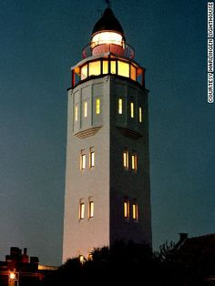 """Head to the Netherlands and you'll find the restored art deco Harlingen Lighthouse hotel. """"From the middle of the 18th century, fires crackled, acetylene gas lights hissed and the light system twinkled, because the many lighthouses Harlingen had were always rebuilt on the same spot,"""" said former lighthouse keeper Piet Beuker."""