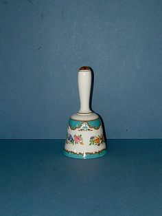 Vintage 1930s Art Deco Bone China Bell by Crown by Biminicrickets, $45.00
