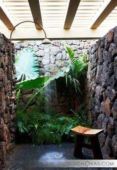 Летний душ для дачи - 45 фото потрясающих идей    #душ Не пропустите