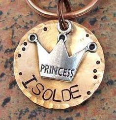 Princess Tiara Pet ID Tags/Tag by FetchAPassionTags on Etsy, via Etsy.