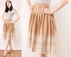 70s Circle Skirt Atomic Bubble Print Elastic Waist by BGSvintage